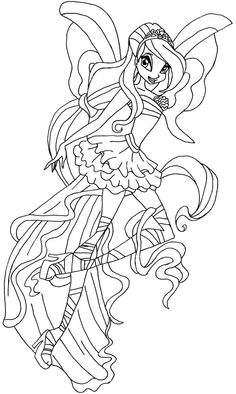 coloring pages WINX - Google Search