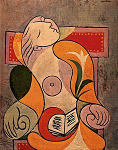 I'm taking my Picasso rants back. Seems like his fave musetress Marie-Thérèse Walter is still very significant. Another Picasso portrait of the gal is up Kunst Picasso, Art Picasso, Picasso Paintings, Pablo Picasso Drawings, Georges Braque, Giacometti, Cubist Movement, Art Moderne, Famous Artists