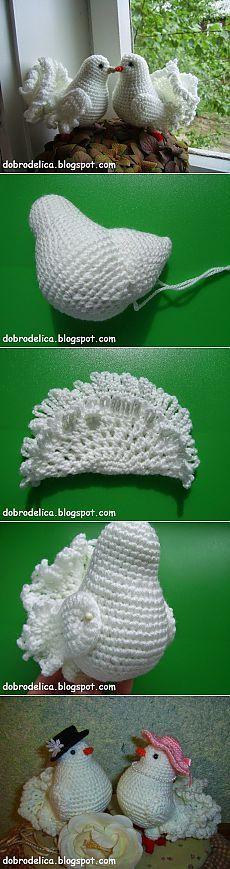 This Pin was discovered by Iva Crochet Bird Patterns, Crochet Birds, Amigurumi Patterns, Cute Crochet, Crochet Animals, Irish Crochet, Crochet Crafts, Crochet Dolls, Crochet Yarn