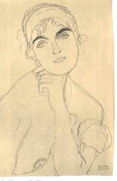 Female portrait (frontal view), Gustav Klimt