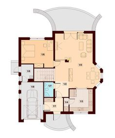 DOM.PL™ - Projekt domu DN Magnolia CE - DOM PC1-20 - gotowy koszt budowy Beautiful Small Homes, Bungalow House Plans, Wood Pallets, Pallet Wood, Plan Design, Magnolia, Building A House, Floor Plans, 1