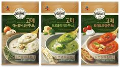 CJ제일제당, 간편식 '고메 수프' 선보여 Food Branding, Food Packaging Design, Branding Design, Instant Rice, Visual Communication Design, Snack Recipes, Healthy Recipes, Cookies Et Biscuits, Label Design