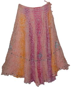 Britney Romantic Silk Skirt