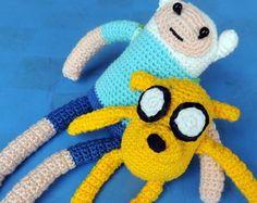 Amigurumi de Crochê Jake e Finn