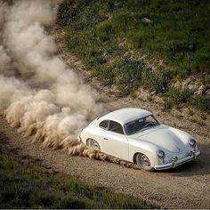 WEBSTA @ car_vintage - • Powder in the air. Porsche 356 Pre-A •www.caranevintage.comBy @zwart