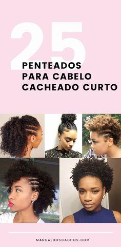 Penteados para cabelo cacheado curto Fancy Hairstyles, Black Girls Hairstyles, Afro Hairstyles, Curly Hair Styles, Natural Hair Styles, Curtido, Love Hair, About Hair, Hair Goals