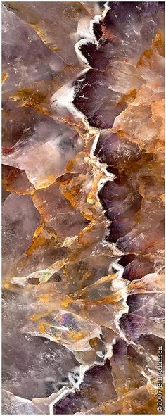 Looks like a mineral sea crashing its waves against the shore?? Amethyst, by Bill Atkinson.