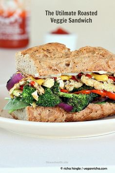 Splendid Vegan Richa: The Ultimate Veggie Sandwich. Vegan Recipe. Now that's a sandwich! #vegan The post Vegan Richa: The Ultimate Veggie Sandwich. Vegan Recipe. Now that's a sandwich! … appe ..