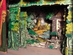 Pollocks Toy Theatre with scenery by Clive Hicks-Jenkins