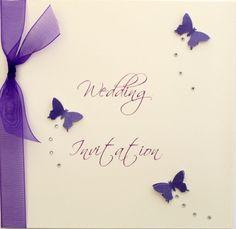 Luxury handmade wedding invitation