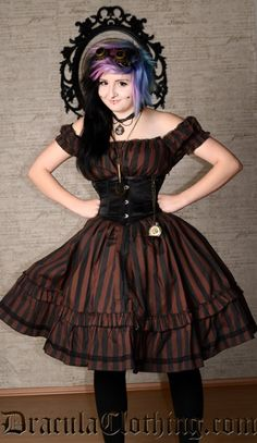 Steampunkabilly dress from Dracula Clothing $55. I need this dress