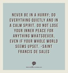 St. Francis de Sales.  I love this...really hits home.