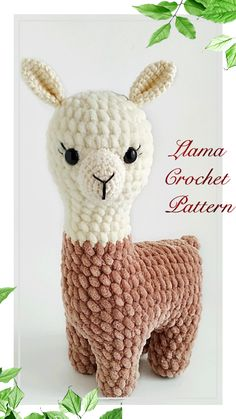 # crochet crafts to sell gifts LLama crochet pattern/crochet Llama plush pattern/Crochet Crochet Animal Patterns, Stuffed Animal Patterns, Crochet Patterns Amigurumi, Crochet Animals, Crochet Dolls, Crochet Stitches, Beginner Crochet Patterns, Crochet Birds, Crocheted Toys
