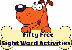 Fifty Free Sight Word Activity Sheets! Great for reviewing sight words over the summer and all year round!