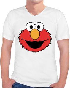 Elmo Suratı Kendin Tasarla - Erkek V Yaka Tişört