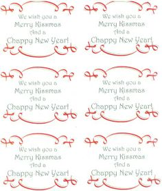 We Wish You a Merry KISSmas and a CHAPPY New Year Free Printable Tags - Put any type of lip balm in a cello bag and tie with a ribbon.