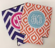 Personalized Monogrammed Koozie by MADFORMONOGRAMS on Etsy, $9.50