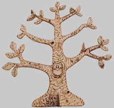 porta orecchini in legno