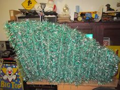RARE Vintage Green & Silver Aluminum Christmas Tree Branches ONLY 192 pcs.    #9