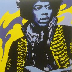 Pop Art Painting - Jimi Hendrix retro funk