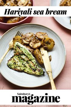 This Hariyali sea bream recipe from Meera Sodha is fresh, herby and delicious. We recommend a grill basket to cook the fish on a barbecue, as it makes turning much easier Sea Bream Recipes, Fish Recipes, Seafood Recipes, Sea Food, Food Food, Grill Basket, Cook Up A Storm, Sainsburys