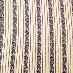 Blue & Ivory Woven Cotton Stripe