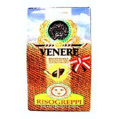 Arroz negro integral Venere de Greppi. Buenísimo para hacer con mantequilla para acompañar cualquier plato, o para recetas con sepia o calamares.