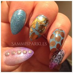 Gel II shades are Blue Blue, Beach Bali Ball Reaction and Tahiti Sweetie with pigment powder, foil leafing and glitter!