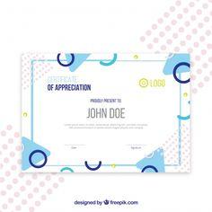 Certificate template with geometric shap. Id Card Design, Layout Design, Certificate Design Template, Portfolio Covers, Certificate Of Appreciation, Presentation Layout, Integrity, Geometric Shapes, Orlando