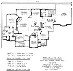 1 1/2 Story, 4 Bedroom, 3 Bathroom, 1 Dining Area,. House Plans DesignGame  ... Part 69