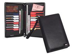 Braun Büffel GOLF - Leder Reiseorganizer Kartenetui Reisebrieftasche - schwarz
