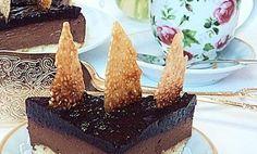 Torta s čokoládovou penou a sezamovým karamelom
