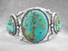 Silver and Turquoise Navajo Bracelet