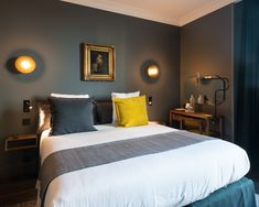 Home Remodel Fixer Upper hotel paris C.Q Hotel Paris Coq Hotel Paris, Paris Hotels, Dark Gray Bedroom, Grey Room, Hotel Safe, Apartment Projects, Hotel Interiors, Guest Bedrooms, Vintage Home Decor