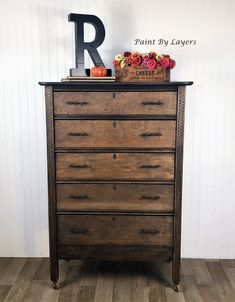 Farmhouse antique dresser, Oak dresser, bedroom storage, country farmhouse dresser My Furniture, Recycled Furniture, Furniture Making, Furniture Makeover, Vintage Furniture, White Wood Dresser, Oak Dresser, Vintage Chest, Vintage Vanity