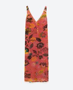 Image 8 of PRINTED VELVET DRESS from Zara