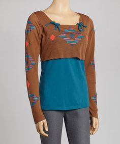 idea for that too tight in the hips t-shirt -use over a tank top Layered Top - Women by Coline USA