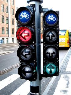 Copenhagen Bike Traffic Lights (København, Danmark, Scandinavia, Danish, Denmark, travel, Europe, city, capital, visit, beautiful, cool, awesome, bicycle, riding, cyclists)