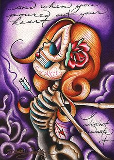 Medusa Curse by Dave Sanchez Canvas Giclee Tattoo Art Print Sugar Skull - Purple Leopard Boutique Frame Wall Decor, Wall Art Decor, Framed Wall, Stretched Canvas Prints, Canvas Art Prints, Voodoo Doll Tattoo, Rolled Paper Art, Sugar Skull Art, Sugar Skulls