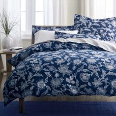 Jamison Floral Percale Duvet Cover 64  queen sold out?