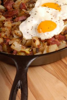 Corned Beef Hash and Eggs- Perfect for St. Patrick's Day.