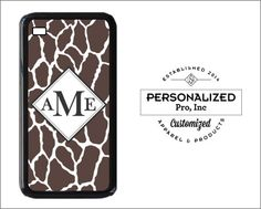 Monogrammed Giraffe iPhone 6 6 Plus 5/5s 4/4s & by PersonalizedPro