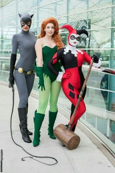 Catwoman, Poison Ivy And Harley Quinn!