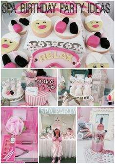 Great spa girl birthday party ideas! See more party ideas at CatchMyParty.com.