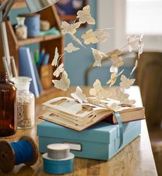 Must try this - How to make a paper butterfly sculpture  - Better Homes and Gardens - Yahoo!7