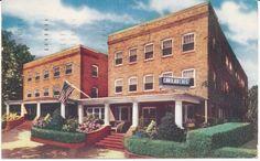 Atlantic City NJ Carolina Crest Hotel Vintage Postcard posted 1956