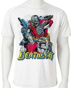 ffad1245a Deathlock Dri Fit graphic Tshirt moisture wicking superhero comic book SPF  tee - Athletic Apparel