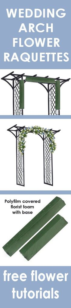 Wedding Flower Arch - Easy Step by Step Flower Tutorials  Learn how to make bridal bouquets, wedding corsages, groom boutonnieres, church decorations, pew ends, and reception table centerpieces.  Buy wholesale flowers and discount florist supplies.