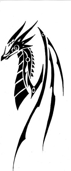Tribal Dragon #4 by BlackDragonSong Want updates and more dragons? Don't forget to like our facebook page! -Dony