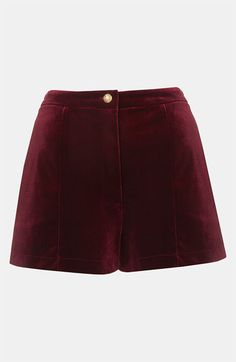 Topshop Velvet Shorts available at Nordstrom